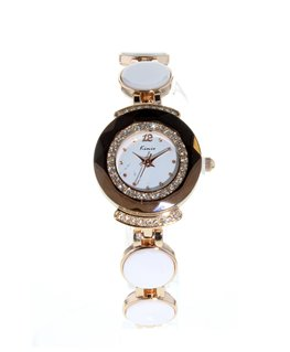 MONTRE FEMME METAL MARRON CADRAN BLANC Rectangulaire