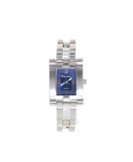 Montre Femme Métal Cadran rectangulaire Fond Bleu
