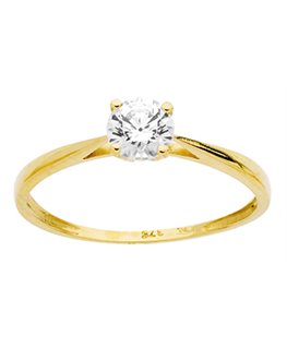 BAGUE OR JAUNE OZ OVALE 375-000