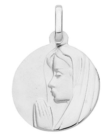 MEDAILLE OR BLANC 375-000 RONDE VIERGE