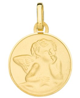MEDAILLE RONDE OR JAUNE 375-000 ANGE
