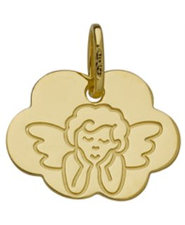 MEDAILLE OR 375-000 NUAGE ANGE PENSEUR