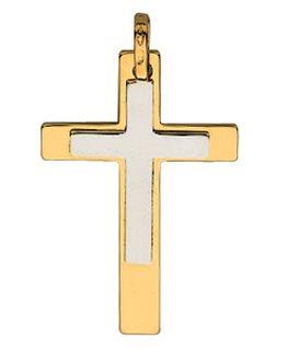 Pendentif Croix 2 Ors 750/1000