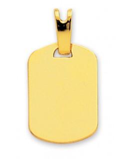 Pendentif Plaque GI Or Jaune 750/1000