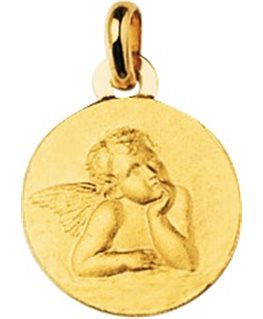 MEDAILLE OR JAUNE 750-000 ANGE