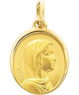 MEDAILLE OR VIERGE OVALE