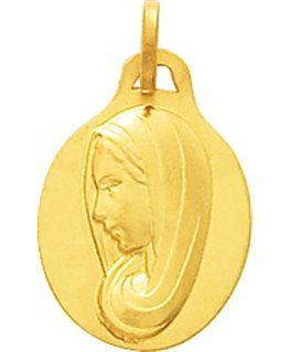 MEDAILLE OR JAUNE 750-000 VIERGE