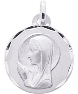 MEDAILLE OR BLANC 750-000 VIERGE