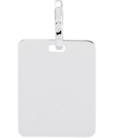 MEDAILLE OR BLANC 750-000 RECTANGULAIRE