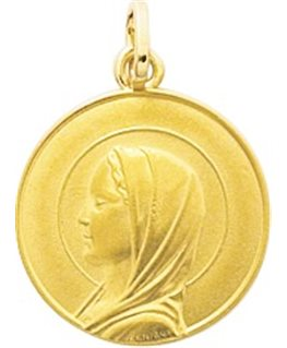 MEDAILLE OR VIERGE RONDE
