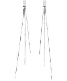 Boucles Or Gris 750/1000 3 Brins