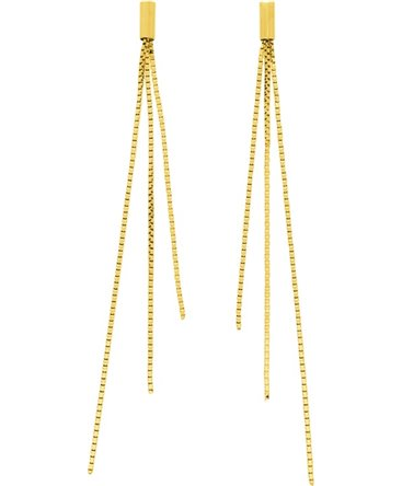 BOUCLES OR JAUNE PENDANTE 750-000