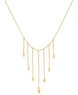 Collier Or Jaune 750/1000 Drapé 7 Ogives