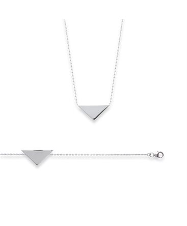 COLLIER ARGENT MOTIF TRIANGLE
