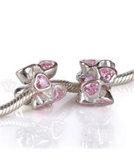 BEAUTY CHARMS ARGENT OZ ROSE COEUR