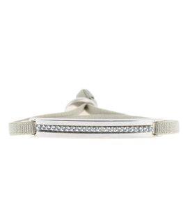 Bracelet Les Interchangeables Plaque 1 Rang Kaki Clair Cristaux Swarovski®