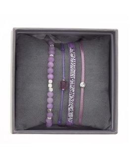 Coffret Bracelet S-Box Ultra Fine R SS17 Parme Cristaux Swarovski®