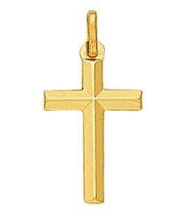Croix Or Jaune 375-000 Fil Biseauté