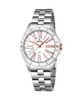 Montre FESTINA Dame Bracelet Acier Cadran Blanc