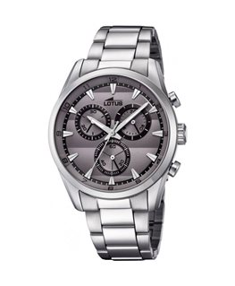 MONTRE LOTUS HOMME METAL CHRON AC FOND GRI