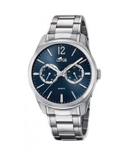 MONTRE LOTUS HOMME METAL MULTIF CAD BLEU