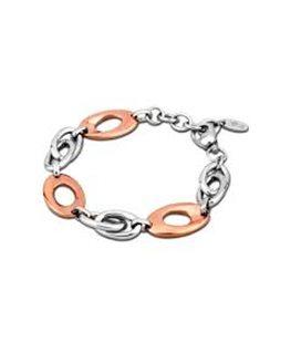 Bracelet LOTUS Femme Acier Cuivré et Argenté