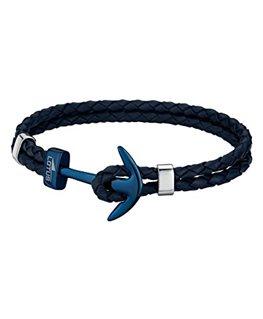Bracelet Lotus Homme Bracelet Tressé Bleu Ancre Bleu