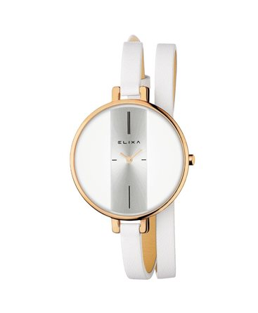 MONTRE DAME ELIXA FINESSE DO RO CUIR BLA