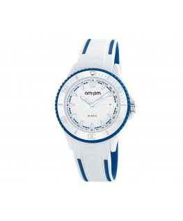 MONTRE MIXTE AM-PM CLUB BLANC BLEU