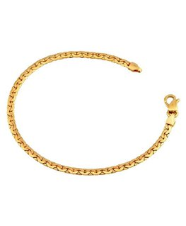 Bracelet Or Jaune 750/1000 Maille Haricot
