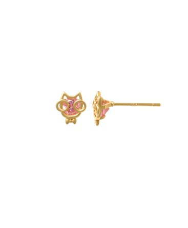 BOUCLES OR JAUNE CHAT OZ ROSE