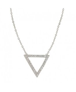 COLLIER ARGENT MOTIF 1 TRIANGLE OZ