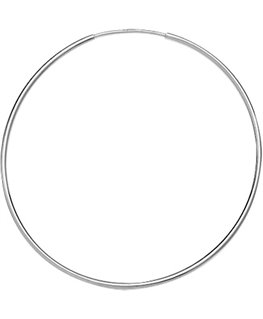 Créoles Or Gris 375/1000 Flexible Fil Rond 1mm Diamètre 30mm