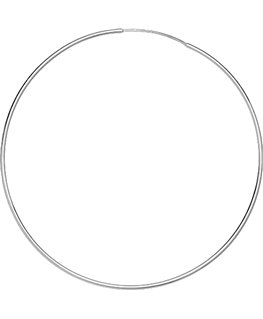 Créoles Or Gris 375/1000 Flexible Fil Rond 1mm