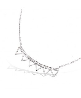COLLIER ARGENT RHODIE MULTI TRIANGLES OZ