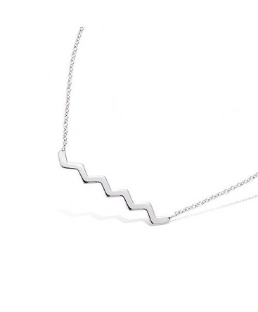 aaa5f017be COLLIER ARGENT RHODIE FORME ZIG ZAG 51EU0200 COLLIERS ARGENT ...