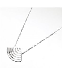 COLLIER ARGENT EVENTAIL MAT-BRILLANT