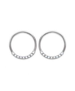 Boucles Argent Cercles Oxydes de Zirconium
