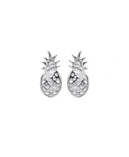 Boucles Argent Ananas