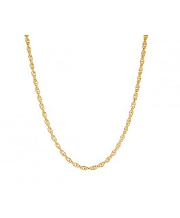 COLLIER PLAQUE OR MAILLE CORDE