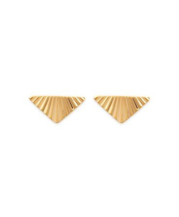BOUCLES PL-OR FORME TRIANGLE