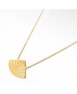 COLLIER PL-OR MOTIL EVANTAIL