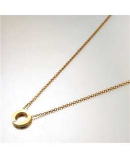 COLLIER Plaqué Or CERCLE OZ