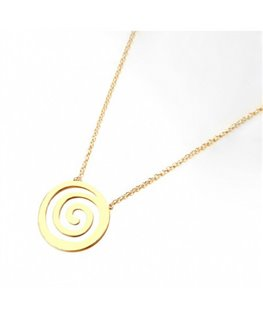 COLLIER PLAQUE OR MOTIF SPIRALE