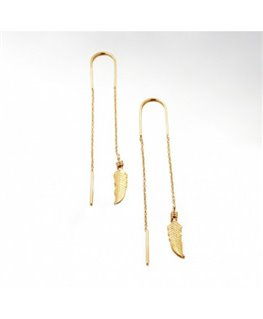 BOUCLES PL-OR 2 PENDANTS FORCAT PLUME