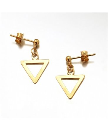 BOUCLES PL-OR TRIANGLE