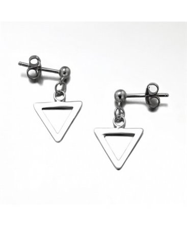 BOUCLES ARGENT 1 TRIANGLE