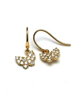 BOUCLES OR 9 CARATS PAPILLON OZ