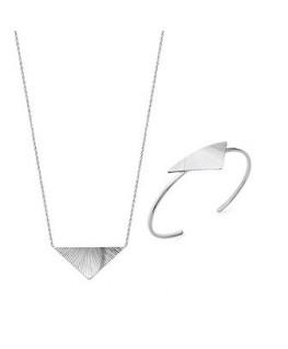Collier Argent Rhodié Triangle