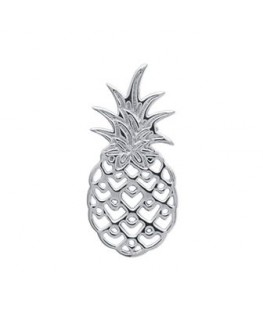 Pendentif Argent Rhodié Ananas